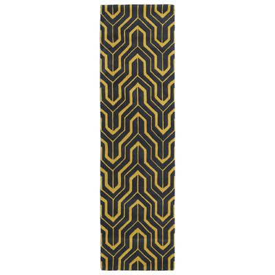 Alsmith Yellow/Green Area Rug Rug Size: Runner 2'3