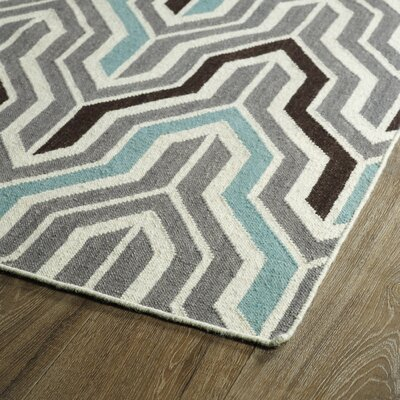 Altaire Lake  Grey Geometric Area Rug Rug Size: Rectangle 5 x 8