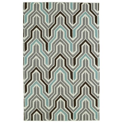 Altaire Lake  Grey Geometric Area Rug Rug Size: 36 x 56