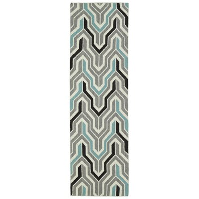Altaire Lake  Grey Geometric Area Rug Rug Size: Runner 26 x 8