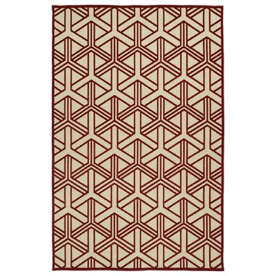 Alterson Red Indoor/Outdoor Area Rug Rug Size: Rectangle 3'10