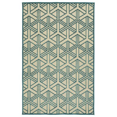 Alterson Blue Indoor/Outdoor Area Rug Rug Size: 5 x 76