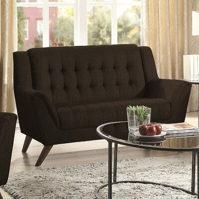 Alvinholmes Loveseat Upholstery: Black