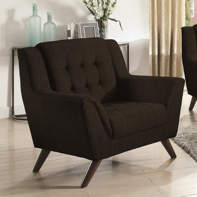 Alvinholmes Arm Chair Upholstery: Black