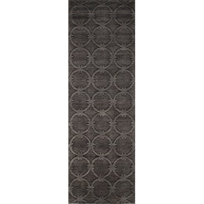 Amacker Hand-Woven Black/Brown Area Rug Rug Size: 36 x 56