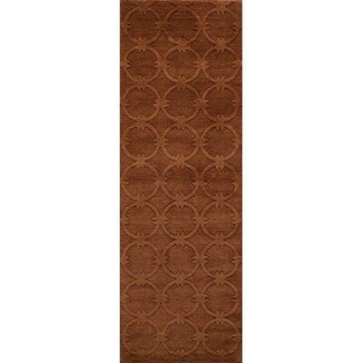 Amacker Hand-Woven Copper Area Rug Rug Size: Runner 26 x 8