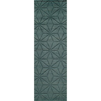 Amacker Hand-Woven Light Blue Area Rug Rug Size: 76 x 96