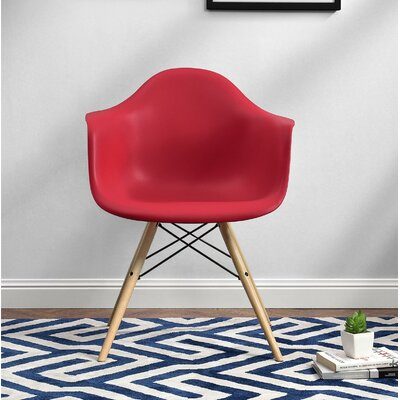 Whiteabbey Molded Arm Chair Color: Red