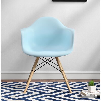 Whiteabbey Molded Arm Chair Color: Blue