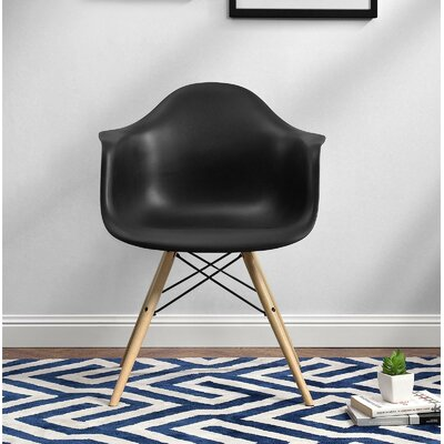 Whiteabbey Molded Barrel Chair Upholstery: Black