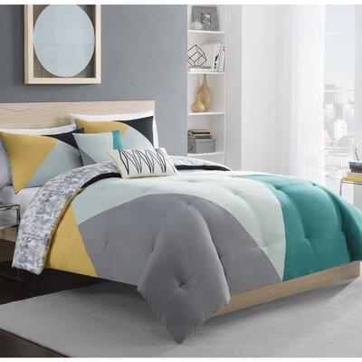 Elliott 5 Piece Reversible Comforter Set Size: Queen