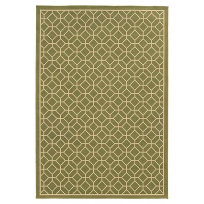 Liza Green/Ivory Indoor/Outdoor Area Rug Rug Size: 37 x 56