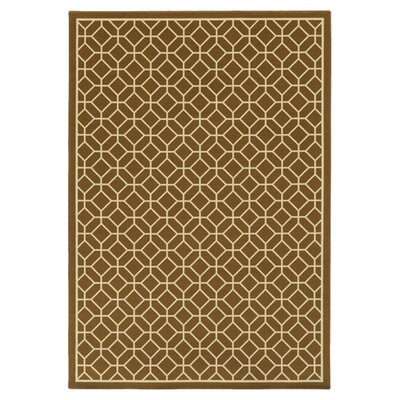 Liza Brown/Ivory Indoor/Outdoor Area Rug Rug Size: 53 x 76