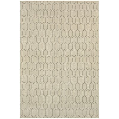 Oren Ivory/Gray Area Rug Rug Size: Rectangle 53 x 76