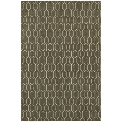 Oren Gray/Ivory Lattice Area Rug Rug Size: 67 x 96