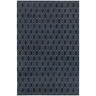 Oren Navy/Grey Area Rug Rug Size: Rectangle 710 x 1010