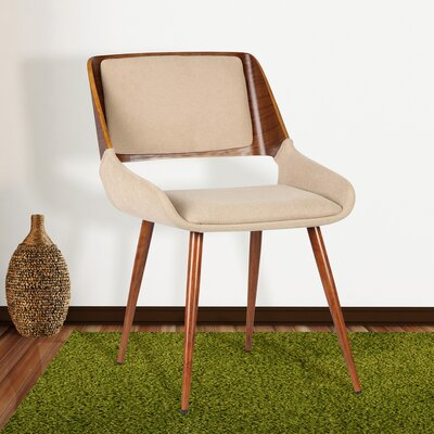 Thelonius Side Chair Upholstery: Brown Fabric