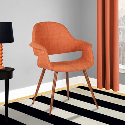 Estella Arm Chair Upholstery: Orange