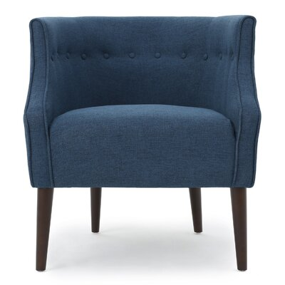 Lilian Barrel Chair Upholstery: Navy Blue