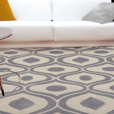 Ella Hand-Tufted Gray Area Rug Rug Size: Rectangle 36 x 56