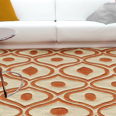 Ella Hand-Tufted Orange Area Rug