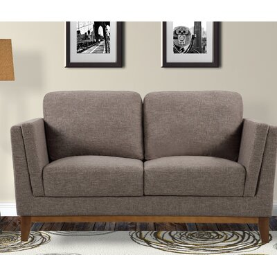 Artifore Modern Loveseat Upholstery: Brown