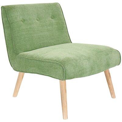 Jaliyah Slipper Chair Upholstery: Green