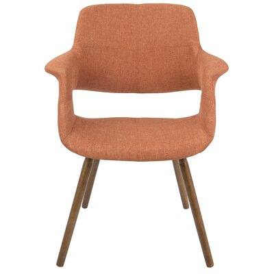 Frederick Arm Chair Upholstery: Orange