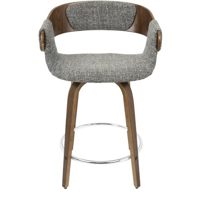 Lexie 23.75 Bar Stool Upholstery: Gray