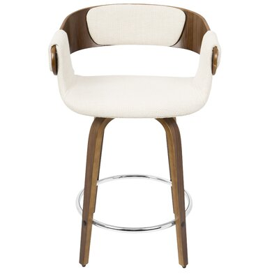 Lexie 23.75 Bar Stool Upholstery: Cream