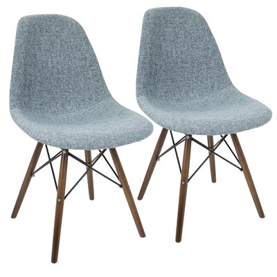 Katelynn Duo Side Chair Upholstery: Charcoal