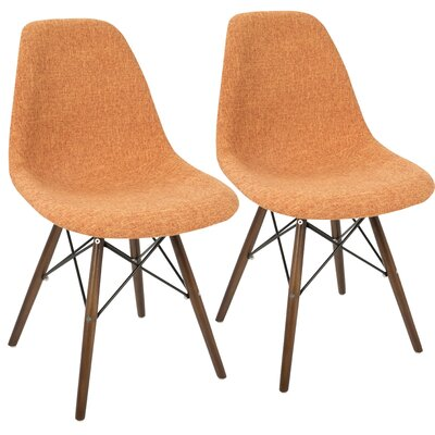 Katelynn Duo Side Chair Upholstery: Orange