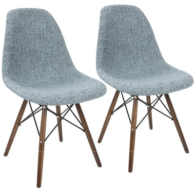 Katelynn Duo Side Chair Upholstery: Smokey Blue