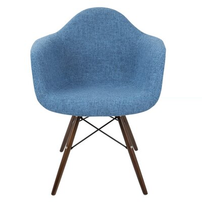 Kailyn Flair Duo Arm Chair Upholstery: Blue