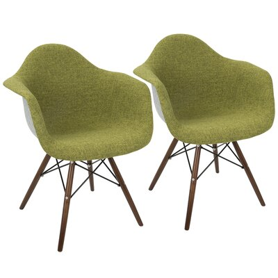 Kailyn Flair Duo Arm Chair Upholstery: Green