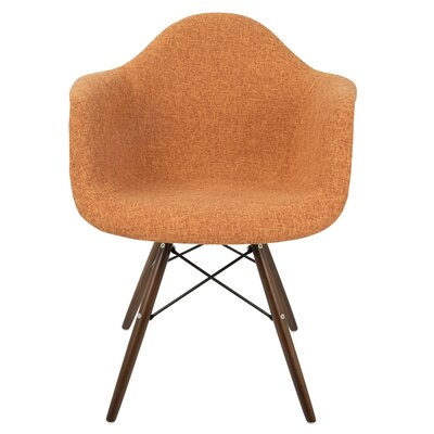 Kailyn Flair Duo Arm Chair Upholstery: Orange