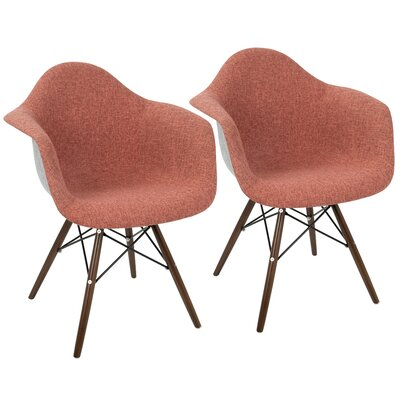 Kailyn Flair Duo Arm Chair Upholstery: Red