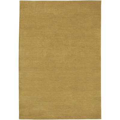 Poppy Hand-Knotted Harvest Gold Area Rug Rug Size: Runner 22 x 79