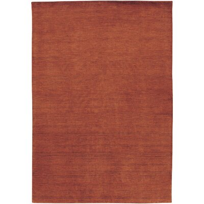 Poppy Hand-Knotted Burnished Rust Area Rug Rug Size: 35 x 55
