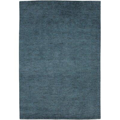 Poppy Hand-Knotted Blue Mercury Area Rug Rug Size: Rectangle 410 x 710