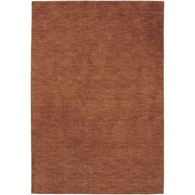 Poppy Hand-Knotted Rustic Clay Area Rug Rug Size: Rectangle 26 x 42