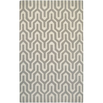 Lulu Hand-Woven Gray/Ivory Area Rug Rug Size: Rectangle 36 x 56