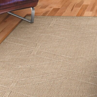 Clarkstown Hand-Loomed Beige Area Rug Rug Size: Rectangle 5 x 8