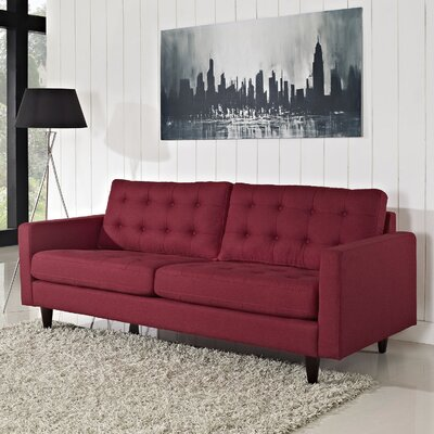 Warren Sofa Upholstery: Red