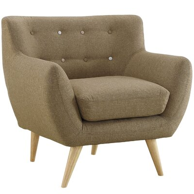 Maisie Armchair Upholstery: Brown