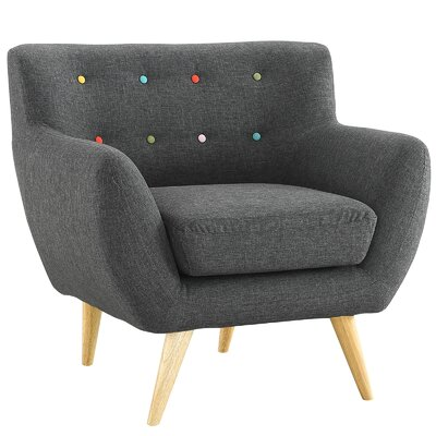 Maisie Armchair Upholstery: Gray