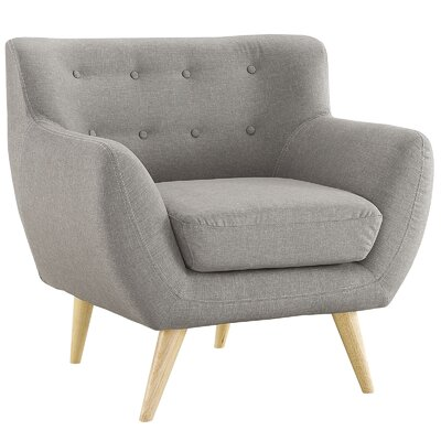 Maisie Arm Chair Upholstery: Light Gray