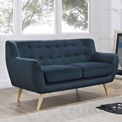 Maisie Loveseat Upholstery: Azure
