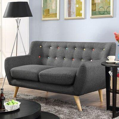 Meggie Loveseat Upholstery: Grey