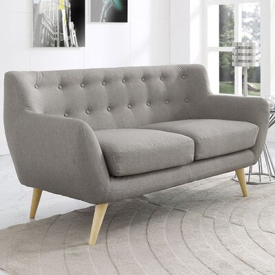 Meggie Loveseat Upholstery: Light Grey
